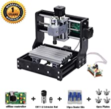 MYSWEETY Upgrade Version CNC 1610 Pro GRBL Control DIY Mini CNC Machine, 3 Axis Pcb Milling Machine, Wood Router Engraver with Offline Controller and ER11 and 5mm Extension Rod