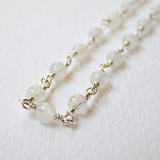Veronica Russek Joyas Moonstone Necklace in Sterling Silver