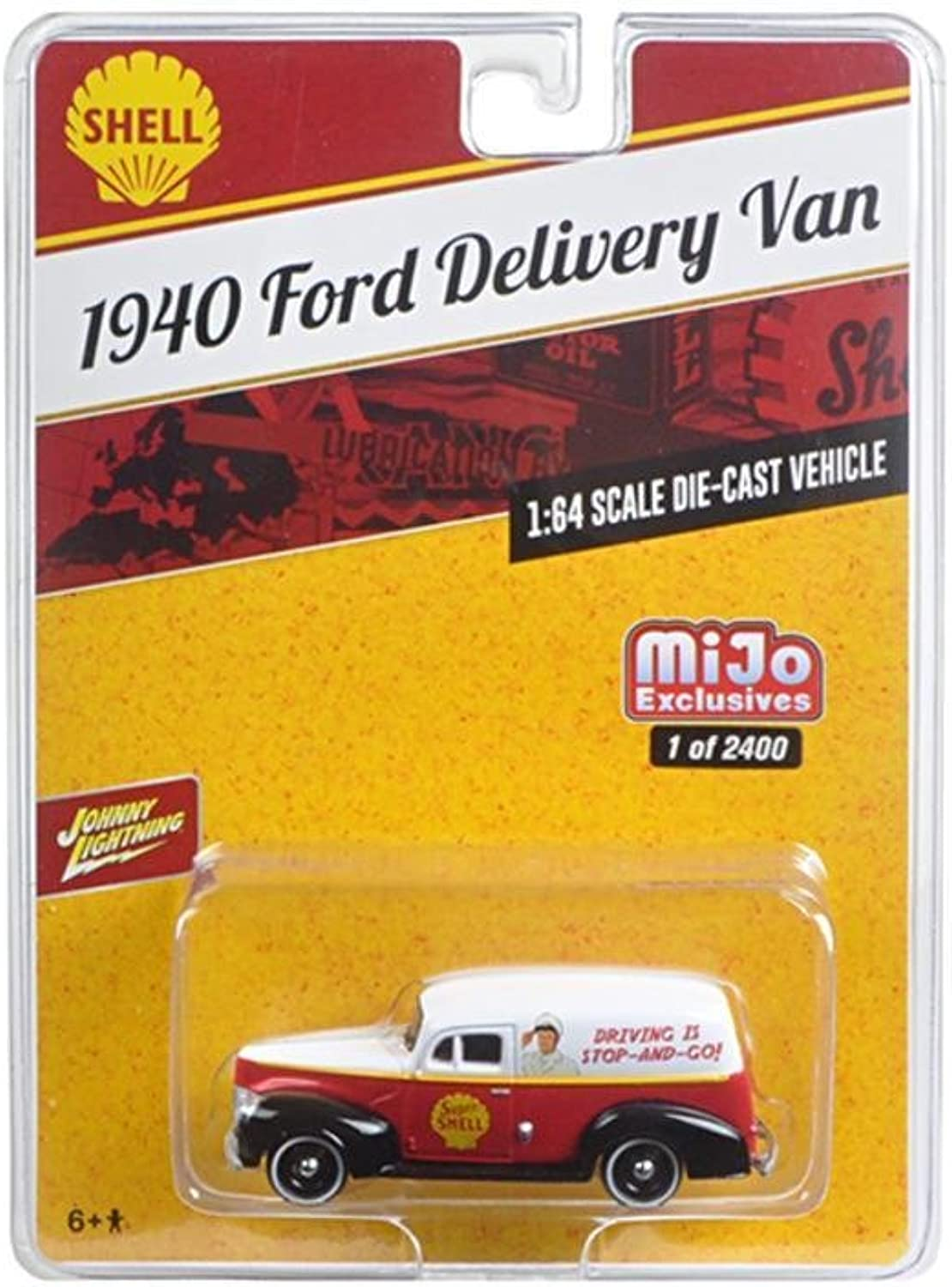 Johnny Lightning JLCP7016 1940 Ford Delivery Van Shell 1 by 64 Diecast Model Car