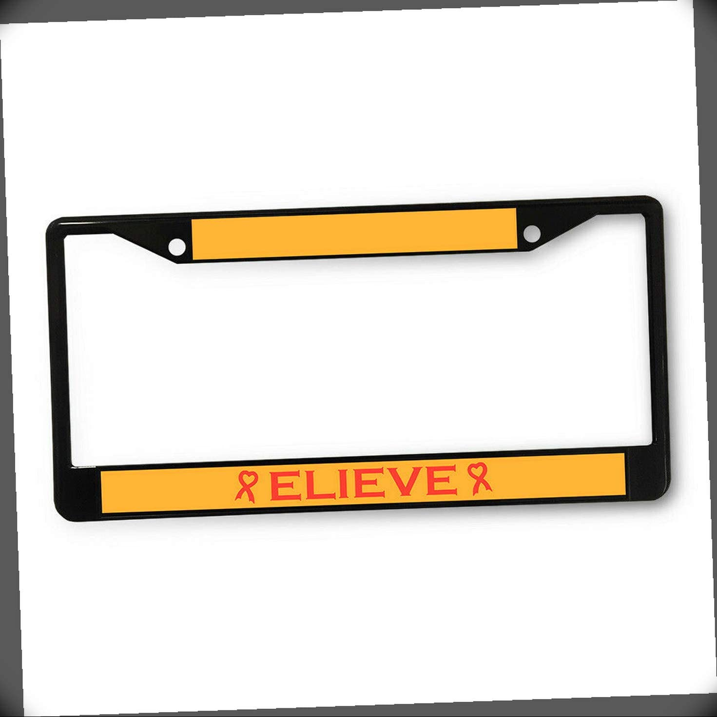 New License Plate Frame Believer Ribbon Reservation M Support A Cause Cancer shipfree