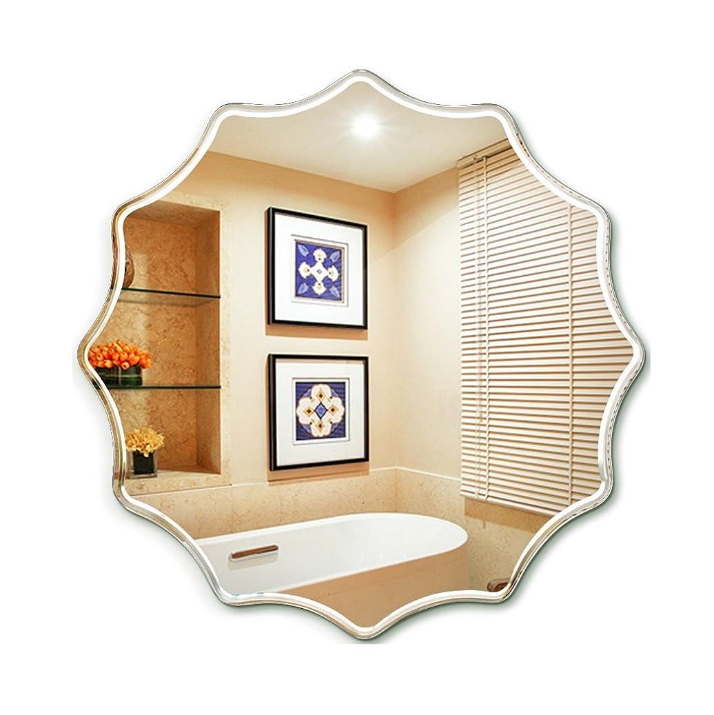 でも匿名独裁者DNSJB ラウンドフレームレス浴室鏡表鏡洗面装飾ミラードレッシングウォールマウント