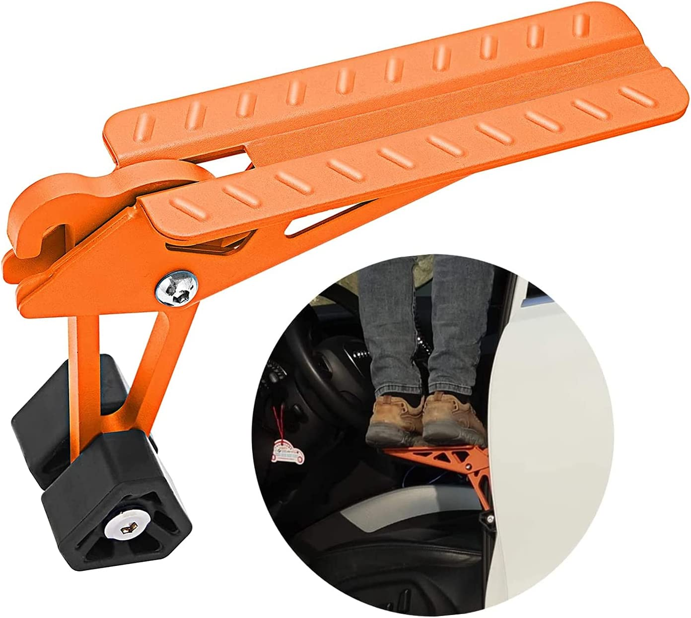 COWVIE Time sale Foldable Car Door Step Stand Vehicle's - Raleigh Mall To Access Pedal