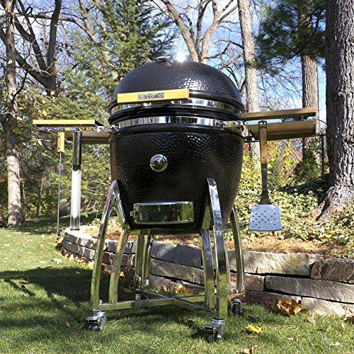 Saffire Grills and Smoker SAFFIRE Kamado, silver, Gestell fahrbar, Größe XL (23