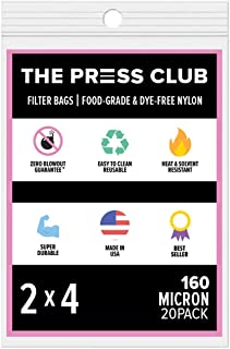 "160 Micron | Premium Nylon Tea Filter Press Screen Bags | 2"" x 4"" | 20 Pack |.."