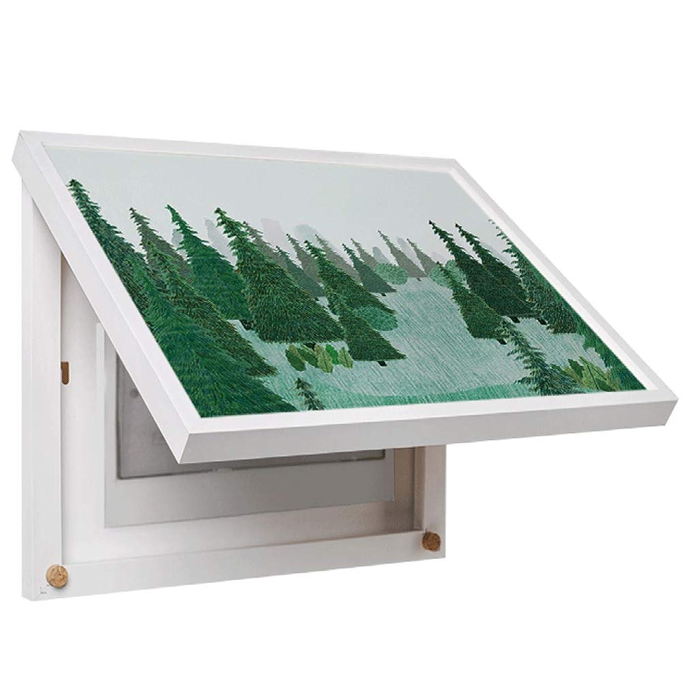仕事に行く救援小麦QIQIDEDIAN 電気メーターボックス装飾絵画電気情報ボックスペインティングメインスイッチオクルージョンボックス壁画 (Color : Black, Size : (50*62cm 47*39cm)-Flip cover)