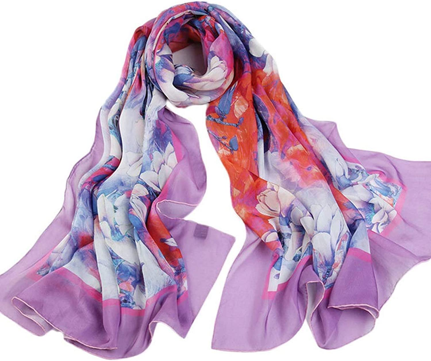 Mulberry Silk Long Paragraph Wild Sunscreen Ladies Scarf Shawl Beach Towel (color   C, Size   175  110cm)