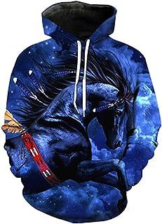 2b1b8ef688b6 Painting 3D Animal Horse Creative Print Men Women Casual Sweatshirt