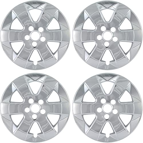 2021 15 inch Hubcap Wheel Skins for 2004-2009 Toyota sale Prius-(Set of 4) Wheel Covers- Car Accessories for 15inch Chrome lowest Wheels- Auto Tire Replacement Exterior Cap Cover outlet online sale