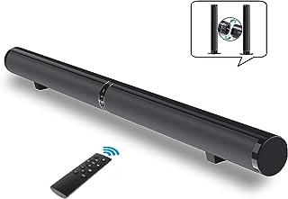 Barra de Sonido, Fityou Barra de Sonido para TV con Subwoofer Incorporado Barra de Sonido Bluetooth Sistema de Cine en Casa con Control Remoto, Desmontable y Montable,50W Soporte RCA/AUX/Opt/USB