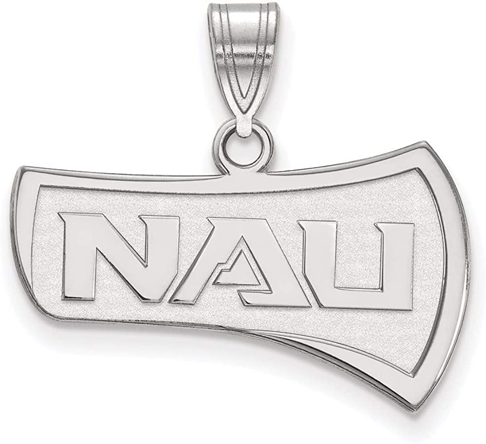 Charm Pendant White Sterling Silver Univer Northern Arizona New Free Shipping Deluxe NCAA