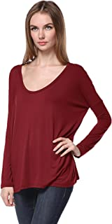 PIKO 1988 Women's Famous Round-Neck Long Sleeve Loose Fit Bamboo Top