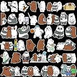 36pcs of Cute Panda Bear Waterproof Vinyl Waterbottle Door Laptop Travel Luggage Car Bike Scrapbook Sticker