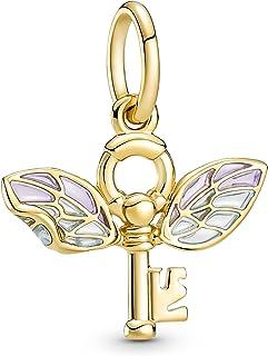 Pandora Harry Potter Geflügelter Schlüssel Anhänger mit 14 Karat vergoldete Metalllegierung und Cubic Zirkonia, Höhe: 14,5...