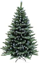 Green Artificial Christmas Tree,with Metal Stand Snowflake Xmas Trees,for Indoor Outdoor Christmas Decoration and Gift,Gre...