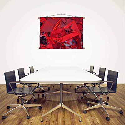 Artzfolio Red Reflective Wall Art Canvas Painting Tapestry Scroll Art Hanging 12 X 8Inch