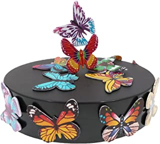 EMESON Magnetic Sculpture Office Desk Distraction Decor Toy Stress Reliever Stocking Stuffer Gift (Oval Base and 12pcs Butterflies)