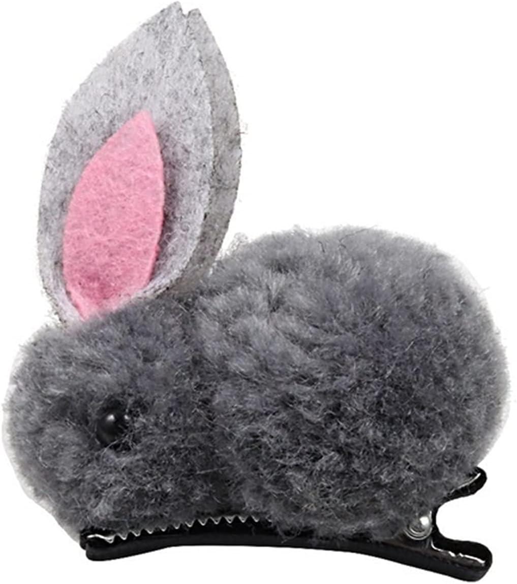 MINGQIMY Hairpin Cute Hair Superlatite Ranking TOP5 Ball Rabbit Children's Girl Clip