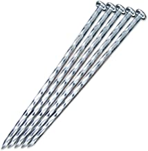 "EISENSP 80 Pack - 6.3"" Galvanized Metal Edging Spike, Garden Spiral Landscape Piles/Anchors for Paver Edging, Weed Barrier..."