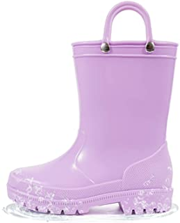 HugRain Toddler Kids Lightweight Adorable Rain Boots