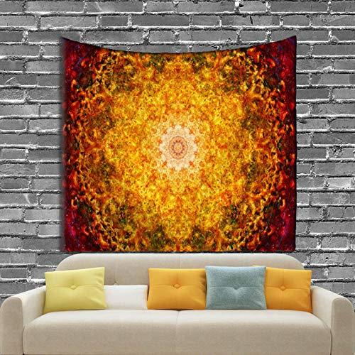 AdoDecor Tapiz Colgante de Pared Mandala, colchón Decorativo para el hogar, colchón de Yoga, Mantel Bohemio, Tapisserie Murale, 150x100CM