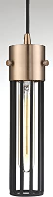 Nuvo 60/6612 Eaves 1 Light Pendant Fixture,Copper Brushed