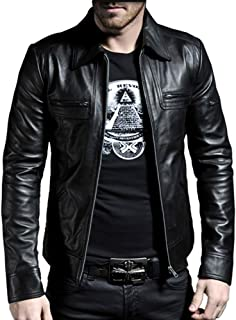 Laverapelle Men's Genuine Lambskin Leather Jacket (Black, Biker Jacket) - 1501200