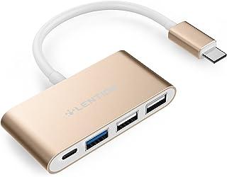 Hub USB-C 4 em 1 LENTION com Tipo C, USB 3.0, portas USB 2.0 para MacBook Apple de 12 polegadas / Novo MacBook Pro de 13 p...