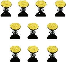 Handvatten 10st 33MM Ceramic Daisy Flower Knop Hand van het Meisje kaptafel lade keukenkast meubels kastdeur geschikt for ...