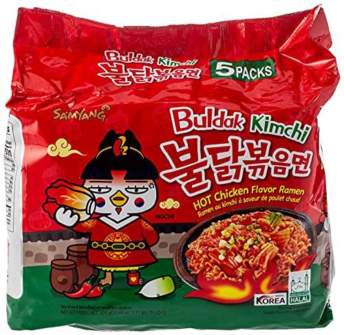 SAMYANG Buldak Hot Chicken Flavour Ramen Kimchi Geschmack 2020 Neuer Geschmack (5x135g)