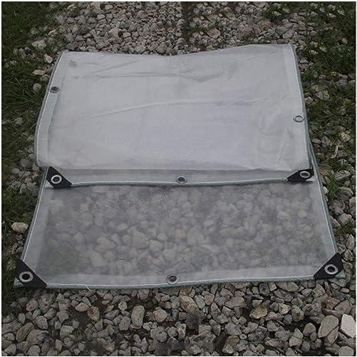 Wangcfsb Imperméable Résistant Complet Complet Transparent Couvercle de la Plante Balcon Couvercle d'Isolation Double Face PVC Verre Souple (Taille   3x4M)