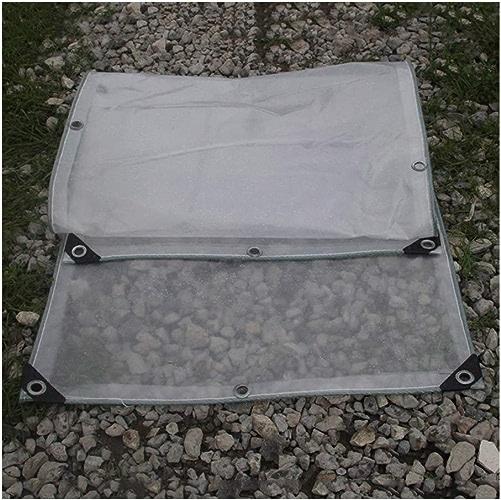 Wangcfsb Imperméable Résistant Complet Complet Transparent Couvercle de la Plante Balcon Couvercle d'Isolation Double Face PVC Verre Souple (Taille   5x8M)