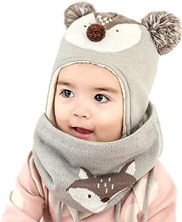 DORRISO Bambino Cappello Sciarpe Autunno Invernale Carina Piccolo Volpe Beanie Cappelli Berretto Bambini Infantili del Cap...