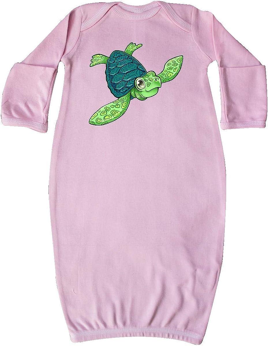 inktastic Sea Turtle with Swirls Newborn Layette
