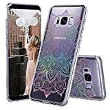 Galaxy S8 Plus Case, Galaxy S8 Plus Clear Case, MOSNOVO Gradient Rainbow Henna Mandala Printed Clear Design Transparent Back Case with TPU Bumper Case Cover for Samsung Galaxy S8 Plus