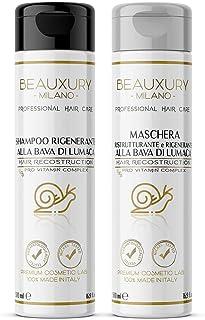 Shampoo e Maschera 500+500 ML Ultra Repair alla Bava di Lumaca + Cheratina + Pro Vitamine