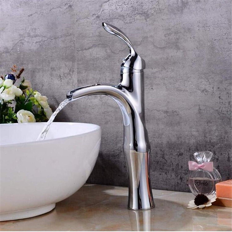 Faucet Blender Vintage Plated Kitchen Faucetsink Faucet Basin Mixer Brushed Waterfall Basin Faucet Sink Mixer