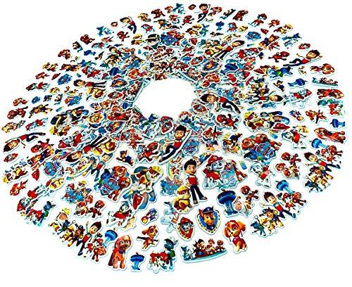 Egero 3D-Aufkleber Paw Patrol (20 Bögen), 300 wiederverwendbare Sticker für Kinder, Hobby, Scrapbooking