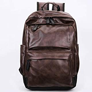 Student Bag, Campus Backpack, Waterproof, Large Capacity, Lightweight and Portable, Multi-Color Optional LIUXIN (Color : Brown)