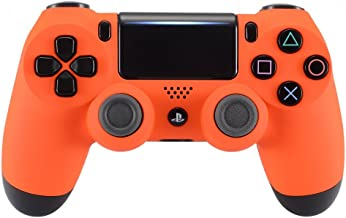 eXtremeRate Soft Touch Grip Orange Front Housing Shell Faceplate for Playstation 4 PS4 Slim PS4 Pro Controller (CUH-ZCT2 JDM-040 JDM-050 JDM-055)