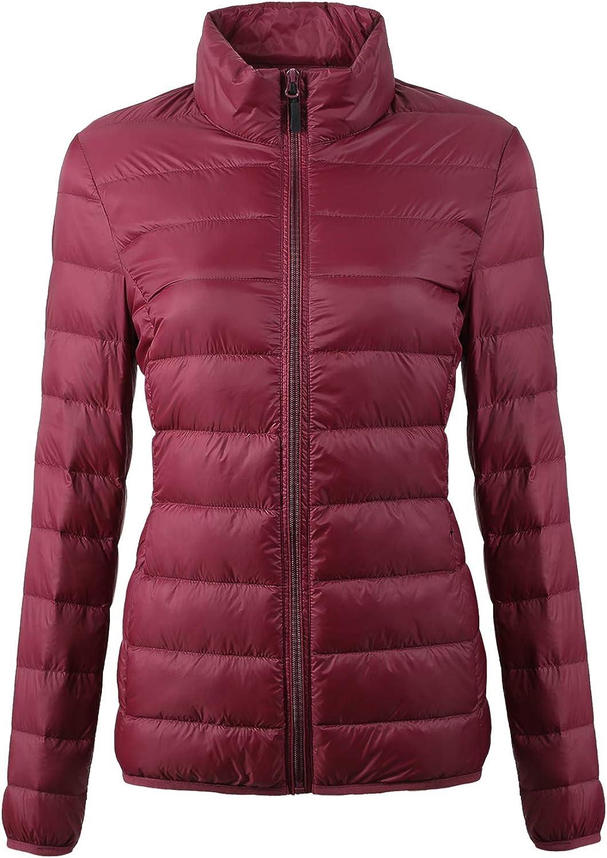 Fantiny Women's Down Jacket Packable Ultra Lightweight Outwear Coats with Travel Bag