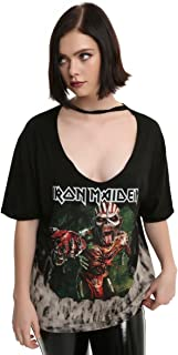 Hot Topic Iron Maiden Book Of Souls Oversized Choker Tie Dye Girls T-Shirt