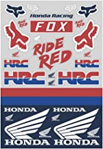 Fox Racing Honda Track Pack Stickers (White/RED/Blue)