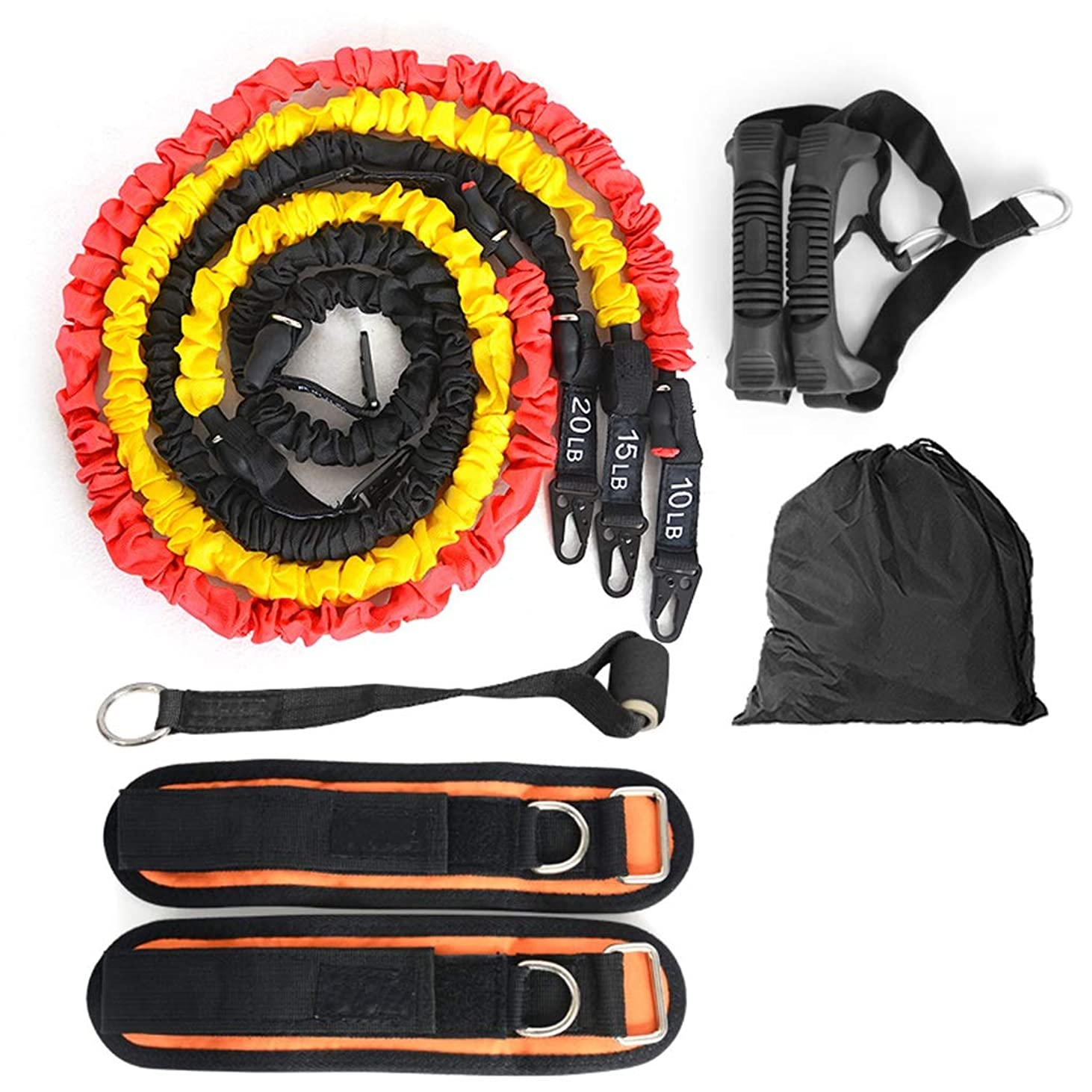 巻き取りカウボーイフィット多機能ワードロープの男性と女性のフィットネス機器の抵抗薄い腕のトレーニング弾性ロープ弾性ベルトテンショナー (色 : 45 pounds)
