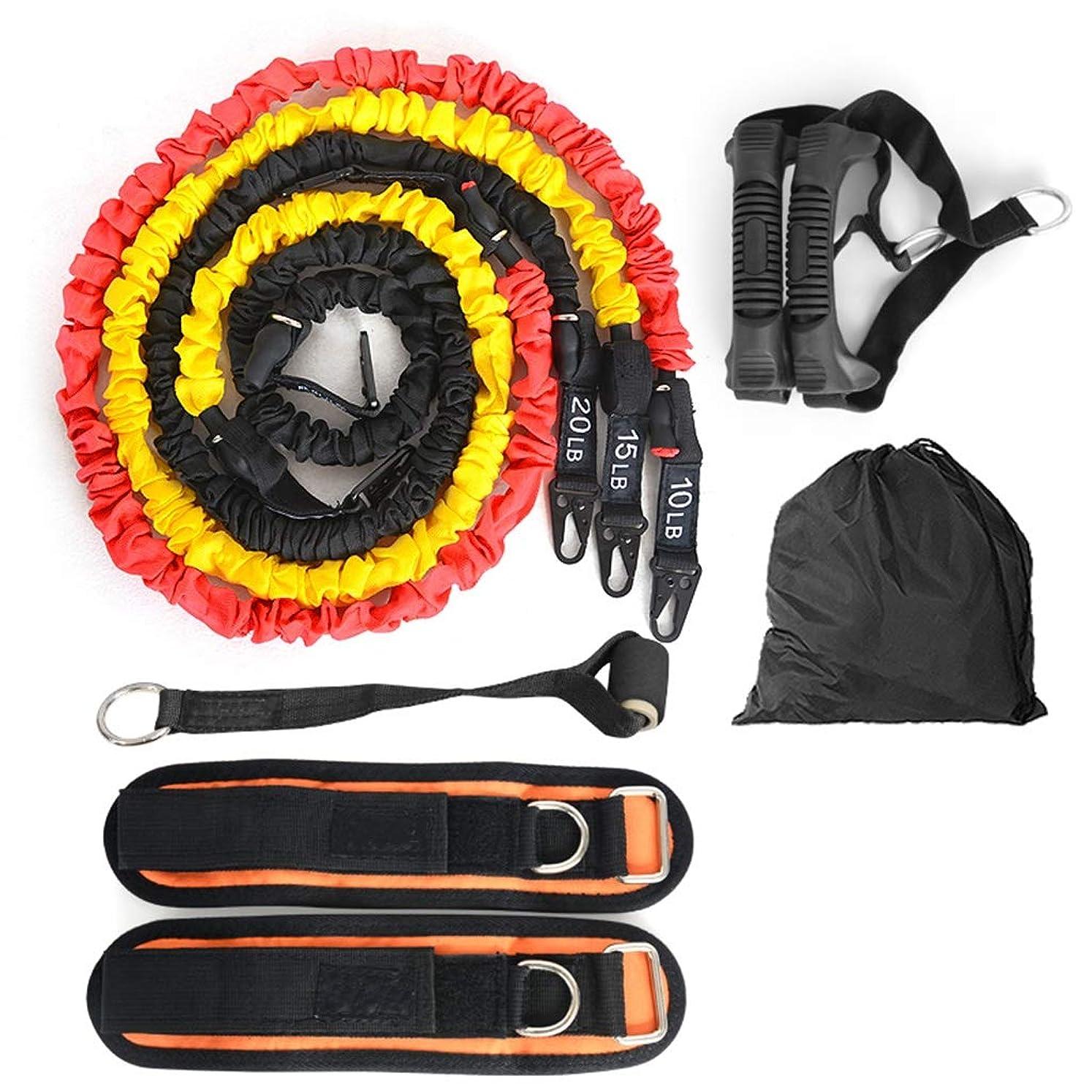 二十頑張る通知多機能ワードロープの男性と女性のフィットネス機器の抵抗薄い腕のトレーニング弾性ロープ弾性ベルトテンショナー (色 : 45 pounds)