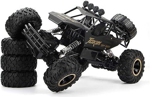 YTBLF Spielzeug Fernbedienung Auto, 1 12 Legierung Klettern Auto-Modell, Bigfoot Offroad Allradantrieb Aufladung Fernbedienung Auto, Kinderspielzeug (Schwarz
