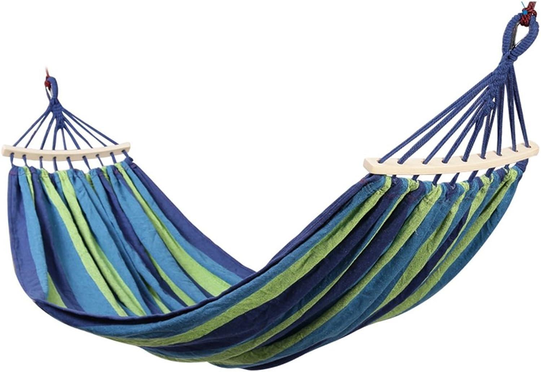 CAOYUYMX Outdoor-Hngematte Hngematte mit Holzstcken, Hngematten im Freien auf Leinwand, Camping-Reisehngematten, Hngematte