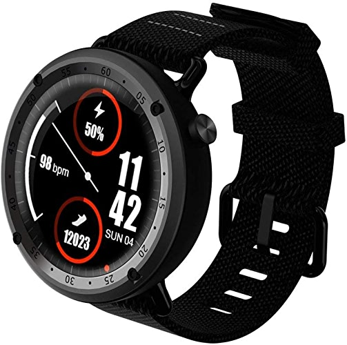 Sanniya L19 GPS Sport Smart Watch Soutien Fitness Tracker Boussole Hauteur Fréquence Cardiaque IP67 Imperméable SMS Poussant