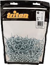Triton 693383 verzinkte zakgatschroeven met schijfkop en fijne schroefdraad 7 x 1 1/4 inch, 500 stuks, zilver