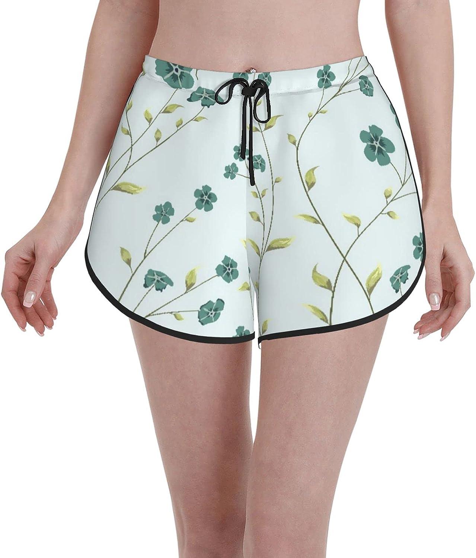 Minalo Women's Girl's Swim Trunks S Flowers White Mesa Mall Beachwear Attention brand