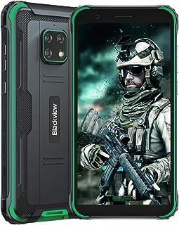Blackview BV4900 (2021) Teléfono resistente desbloqueado 4G, Android 10 Quad-core 3GB+32GB desbloqueo de teléfono celular,...